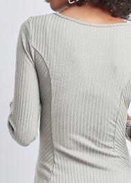 Alternate View Ribbed Skater Dress