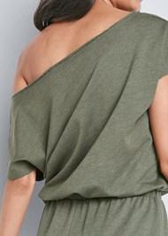 Alternate View Cozy Off Shoulder Jumpsuit