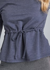 Detail front view Mineral Wash Off Shoulder Sweatshirt