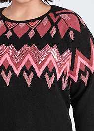Alternate View Sequin Detail Sweater