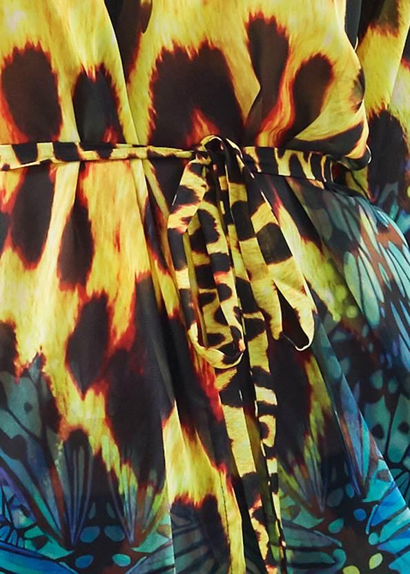 Alternate View Long Kimono Cover-Up
