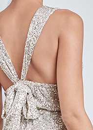 Alternate View Sequin Halter Mini Dress