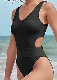 Detail front view Sport Comfort Slim Suit