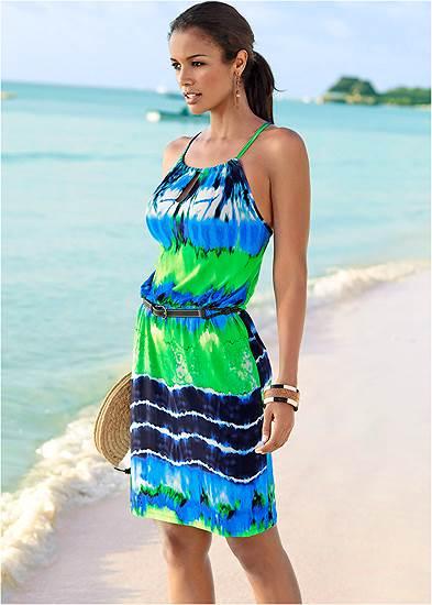 Tie Dye Casual Dress
