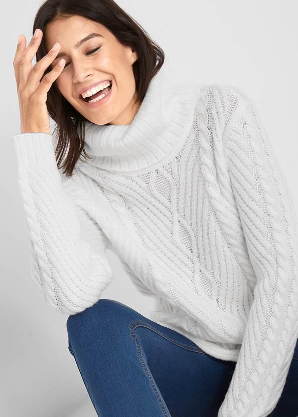 Alternate View Button Detail Sweater