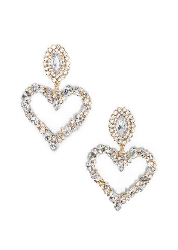 Rhinestone Heart Earrings,Heart Patch Jeans