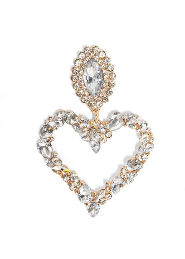 Detail  view Rhinestone Heart Earrings