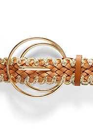 Detail  view Metallic Woven Belt