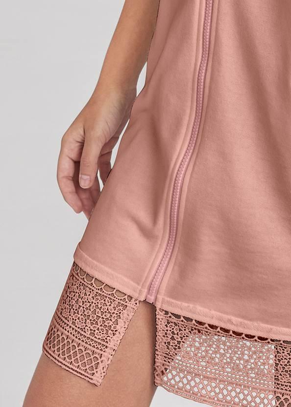 Alternate View Crochet Trim Lounge Dress