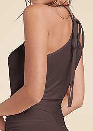 Alternate View Halter Neck Maxi Dress
