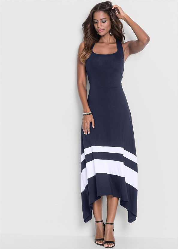 Color Block Maxi Dress,Lace Unlined Wire Bra