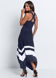 Full  view Color Block Maxi Dress