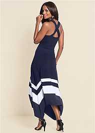 Full  view Color Block Maxi Dress