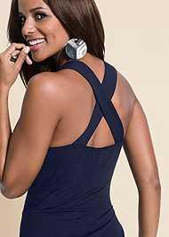 Detail  view Color Block Maxi Dress