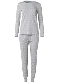 Ghost with background  view Printed Sleep Jogger Set