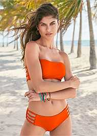 Front View Strappy Bandeau Top