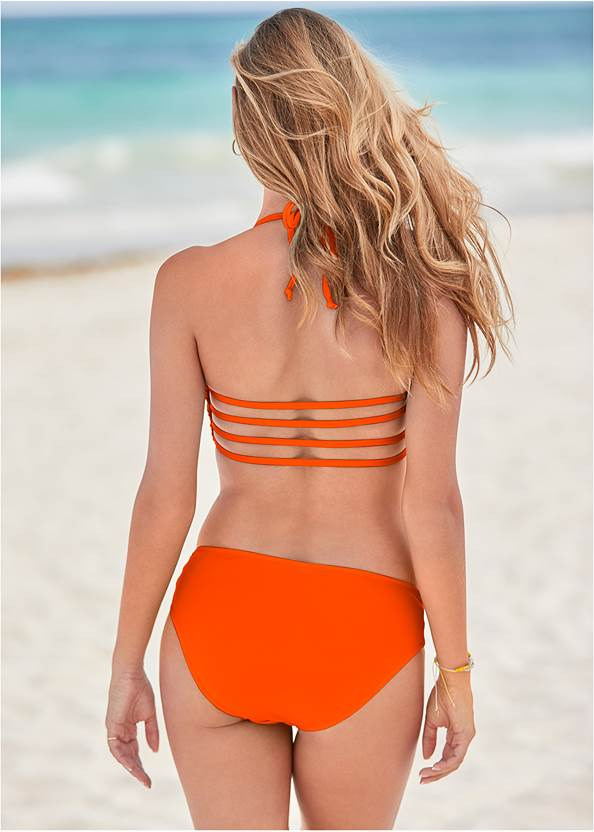 Full back view Strappy Bandeau Top