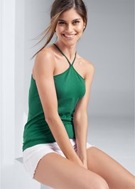 Front View Seamless High Neck Top