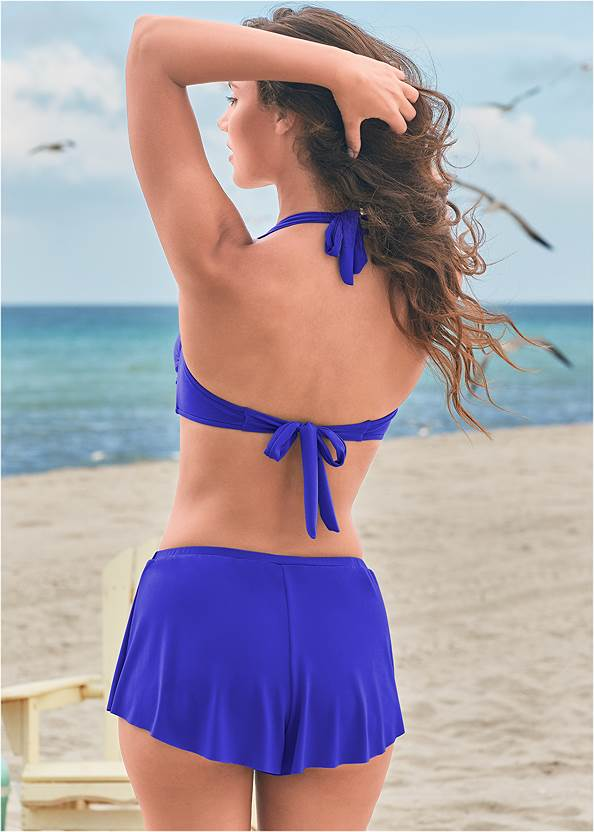 Full back view Twist Front Halter Top