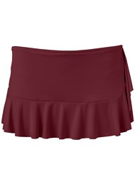 Ghost with background  view Ruffle Swim Skirt