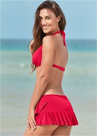 Full back view Ruffle Swim Skirt