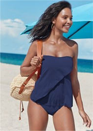 Full front view Classic Bandeau Tankini Top