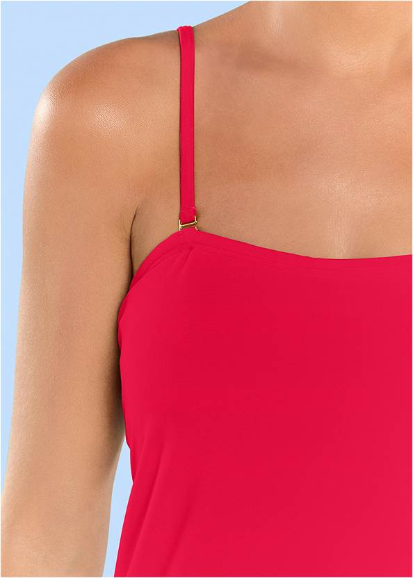 Detail front view Classic Bandeau Tankini Top