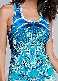 Alternate View Ruched Printed Maxi Dress