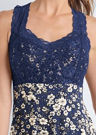 Detail front view Lace Sleep Chemise