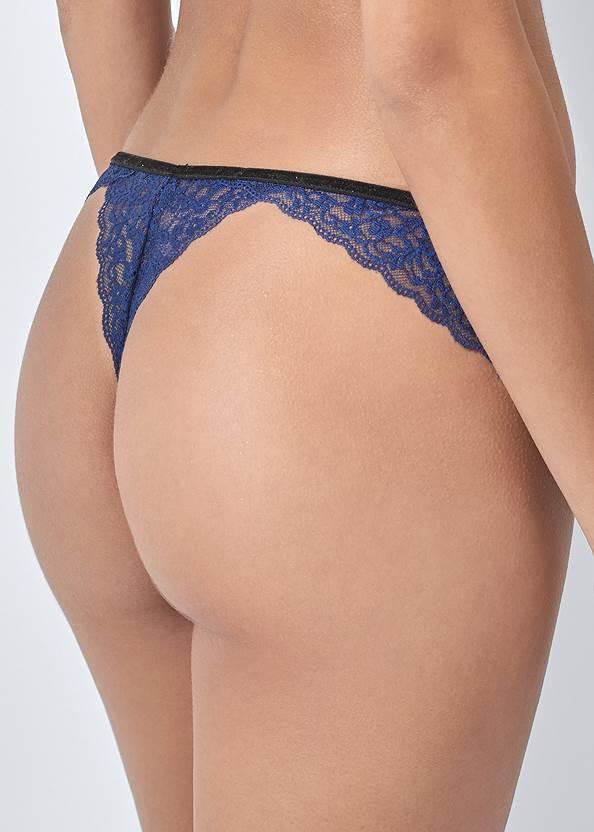 Alternate View Sheer Bralette Thong Set