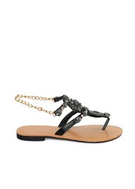 Alternate View Jeweled Chain Strap Sandal