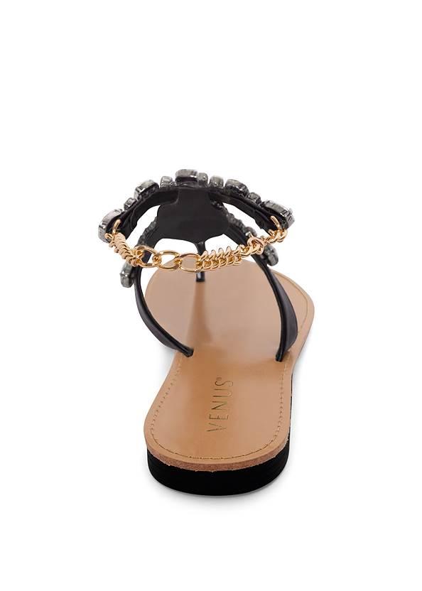 Alternate View Jeweled Chain Strap Sandal