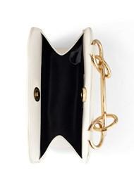 Flatshot open view Metal Ring Crossbody Bag