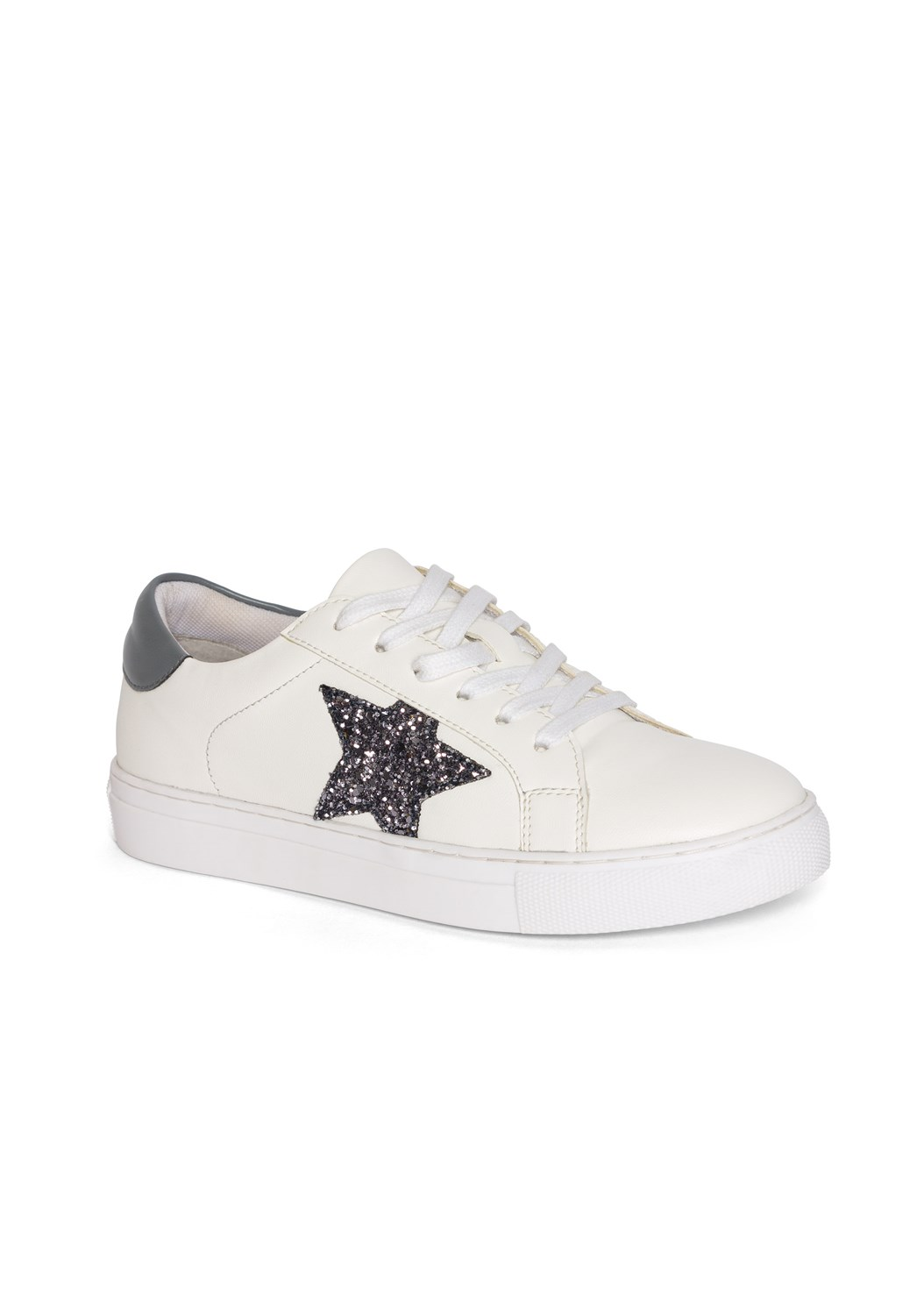 Lace Up Star Sneakers,Rhinestone Trim Zip Hoodie,Basic Cami Two Pack,Rhinestone Trim Jogger