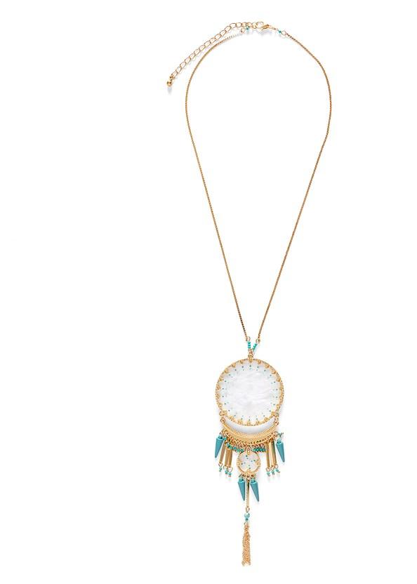 Shell Pendant Necklace,Open Knit Maxi Sweater Dress,Rhinestone Thong Sandal,Shell Fringe Earring