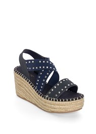Shoe series 40° view Studded Espadrille Wedges