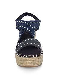 Shoe series front view Studded Espadrille Wedges