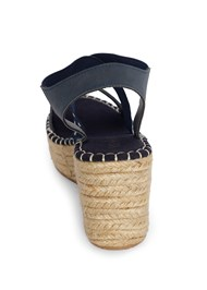 Shoe series back view Studded Espadrille Wedges