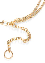 Detail  view Twist Hoop Chain Belt