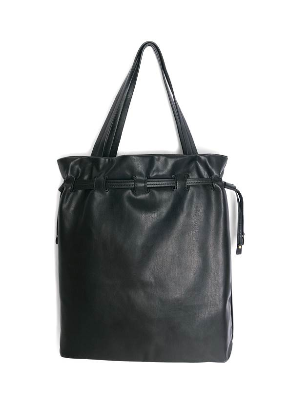 Flatshot back view Pleated Tote Bag