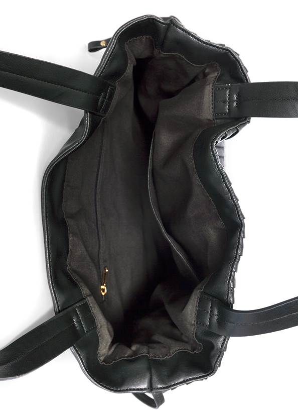 Flatshot open view Pleated Tote Bag