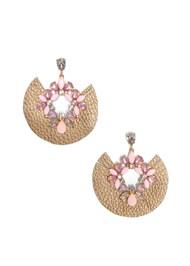Flatshot  view Faux Leather Jewel Earring