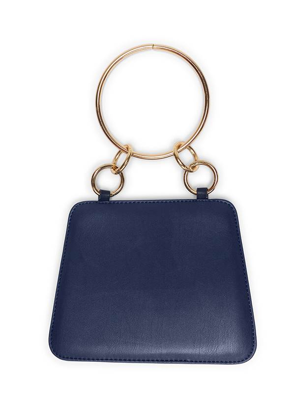 Flatshot back view Metal Ring Crossbody Bag