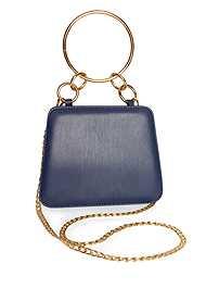 Flatshot front view Metal Ring Crossbody Bag