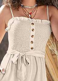 Alternate View Smocked Detail Linen Jumpsuit