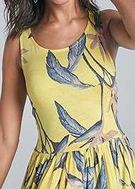 Alternate View Palm Printed Dress