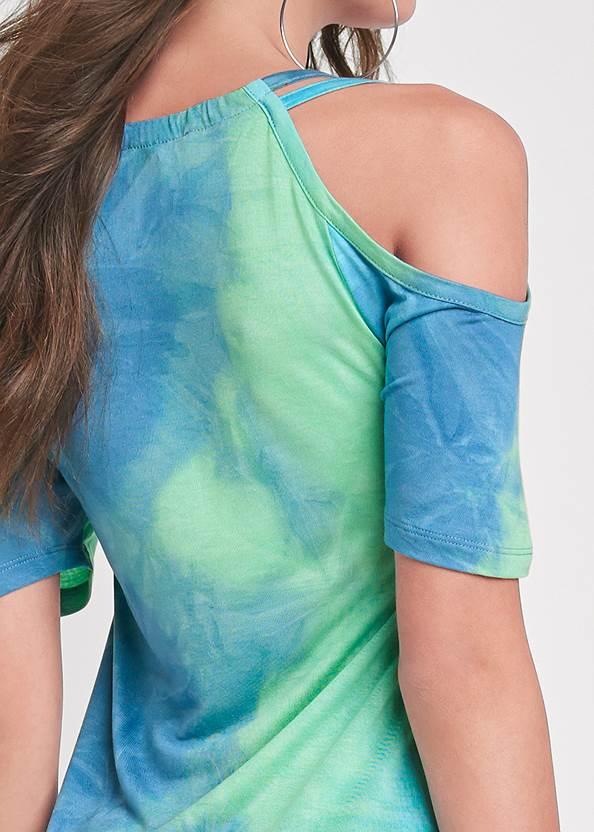 Detail back view Cold Shoulder Dress