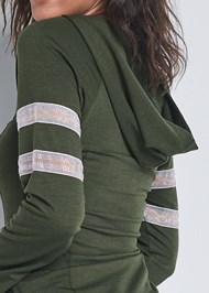 Detail back view Rhinestone Trim Sweatshirt