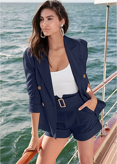 Blazer And Shorts Set