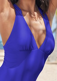 Detail front view Strappy Back One-Piece